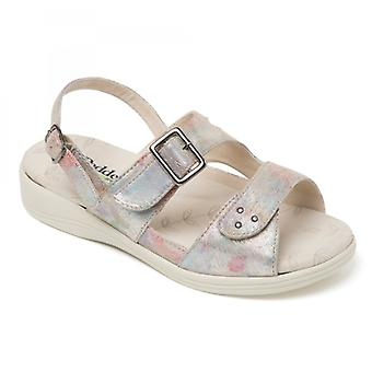 Padders Sunray Ladies Extra Wide (3e/4e) Sandals Taupe Rainbow