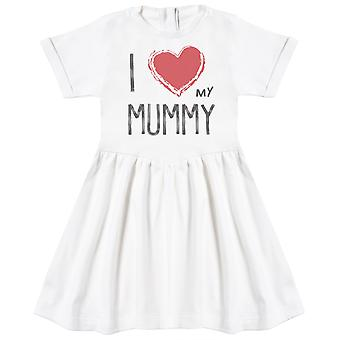 I Love My Mummy Red Heart Baby Dress