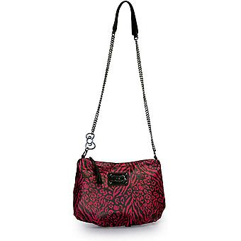 Hand Bag - Hello Kitty - Animal Print Crossbody embossed washed faux with chain handle