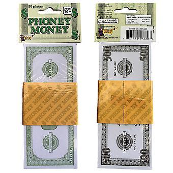 Soldi falsi per il Costume scassinatore Phoney Hundred Dollar Bill Gangster Mob Casino