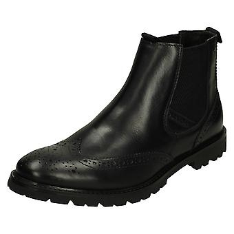 Hombres Base Londres Brogue Botas Bosworth