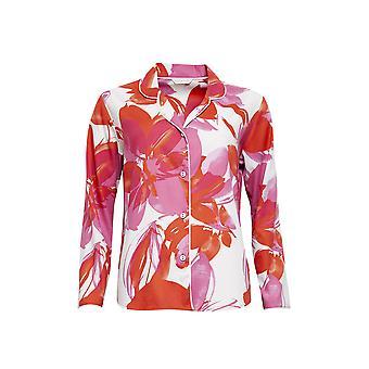 Cyberjammies 4357 vrouwen ' s Amber roze bloemen print katoenen pyjama top