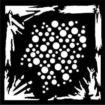Woodware 6in x 6in stencil Grunge