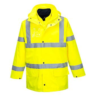 sUw - Hi-Vis Safety Workwear Essential 5-in-1 Jacket - Yellow - Small