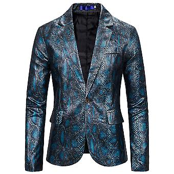 Allthemen Men'S One Button Snakeskin Relaxation Rear Split Suit Jacket