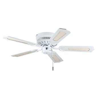 Ceiling fan White Liane with pull cord 103cm / 41