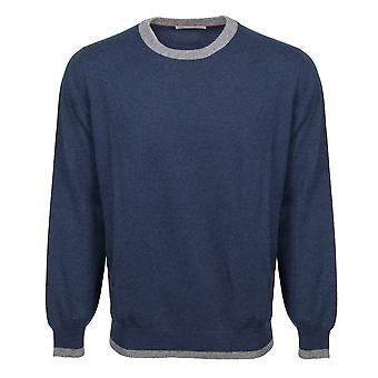 Brunello Cucinelli Crewneck Cashmere Sweater in Navy
