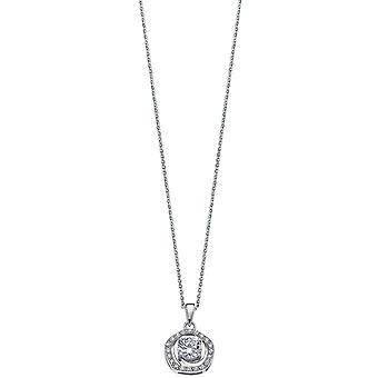 Necklace and pendant Lotus Style LP1607-1-1 - necklace and pendant silver rhinestone classic woman