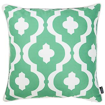 Turquoise Moroccan Geo Decorative Throw Pillow Cover