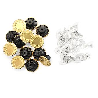 17mm Gold Jeans Buttons