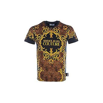 Versace Jeans Couture Cotton Printed Black T-shirt