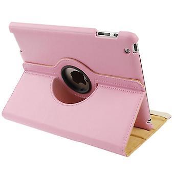 iPad 2/3/4ケース、スマート機能回転可能シールドレザーカバー、ピンク