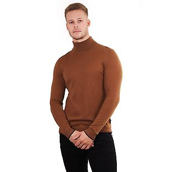 Ted Baker Mens Newtrik Ls Fine Gauge Roll Neck