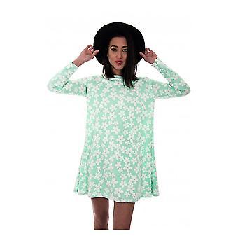 Daisy Print Swing Dress
