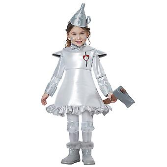 Tin Man The Wizard Of Oz Silver Dress Up Story Book Week Toddler Girls Costume