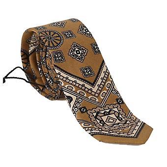 Dolce & Gabbana Yellow Silk Print Tie