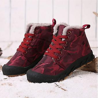 Qiucdzi Kids Winter Snow Boots Boys Girls Waterproof Outdoor Cold Weather Hik...
