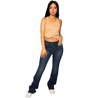Donkere uitlopende Bootcut Stretch Jeans