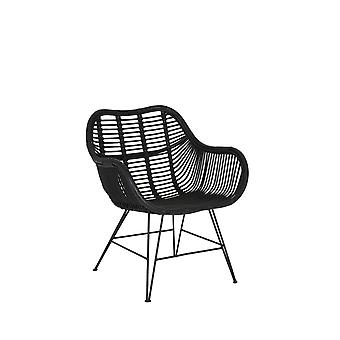 Light & Living Chair 69x66x79cm Malang Rattan Black