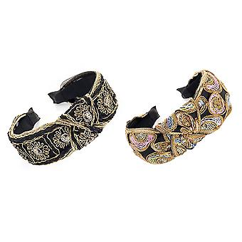 4.5cm Black Multicolour Bohemian Knot Design Alice Band Fashion Headband