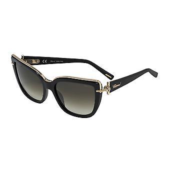 Chopard SCHC80S 0700 Shiny Black/Smoke Gradient Sunglasses