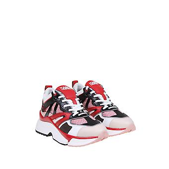 Karl Lagerfeld Kl616354xd Women-apos;s Red Leather Sneakers