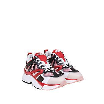 Karl Lagerfeld Kl616354xd Women's Red Leather Sneakers