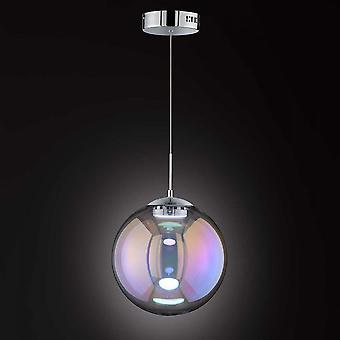 WOFI Grace Modern 30 Cm Led Ceiling Pendant Light With Iridescent Glass 6164.01.01.8300