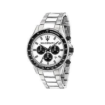 Maserati - Wristwatch - Men - SFIDA 44MM CHR WHITE DIAL BR SS - R8873640003