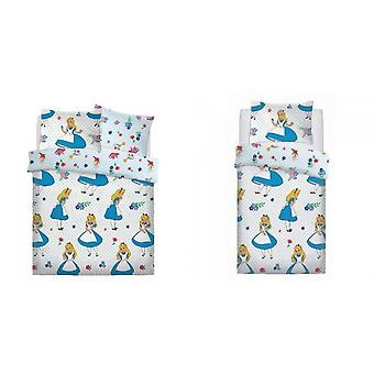 Alice In Wonderland Girls Reversible Duvet Set