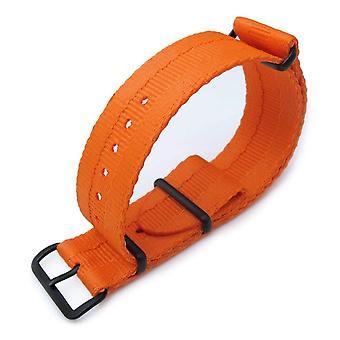Strapcode n.a.t.o watch strap miltat 22mm g10 military nato watch strap, sandwich nylon armband, pvd black - orange
