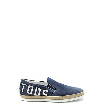 Tod's Ezbc025079 Men's Blue Fabric Loafers