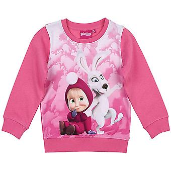 Masha and the bear girls sweatshirt - fuchsia