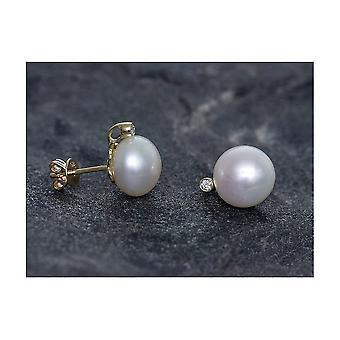 Luna-Pearls Pearl Ear Plug Freshwater 9.5-10mm 585 GG 2 Brill. 0.04 ct. 247071