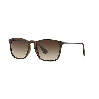 Ray-Ban Chris RB4187 856/13 Rubber Havana/Brown Gradient Sunglasses