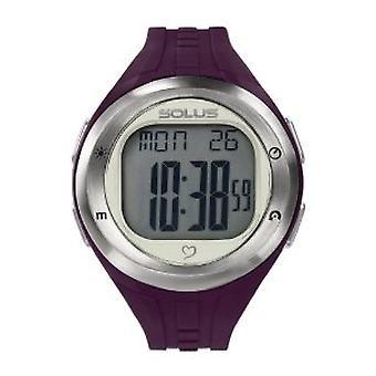Solus Unisex Digital LCD Dial Date Backlight Plum PU Casual Watch SL-900-004