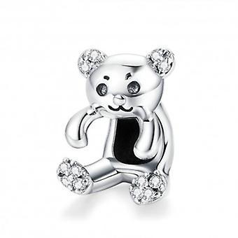 Urso de charme de prata esterlina - 5850