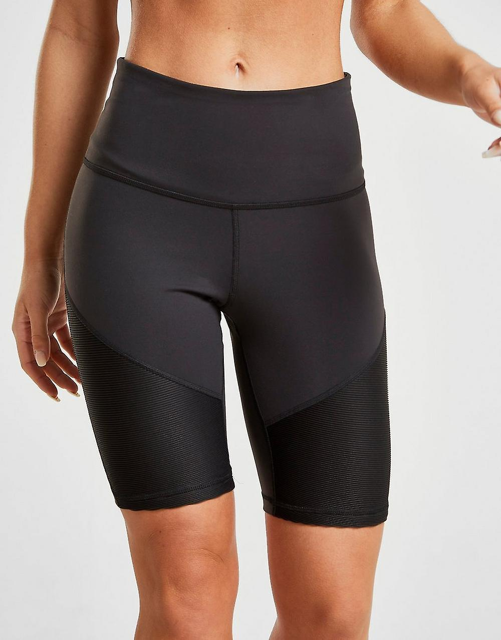 New Reebok Womens Mesh Cycle Shorts Black | Fruugo UK