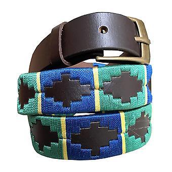 Carlos diaz kids unisex  brown leather  polo belt cdkupb8