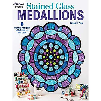 Stained Glass Medallions - 8 Stunning Appliqued Table Toppers or Wall
