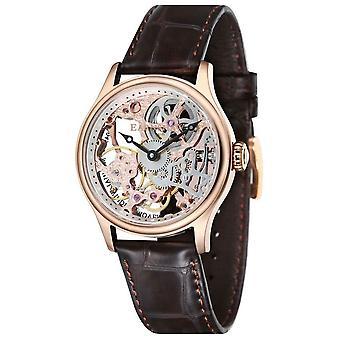 Thomas Earnshaw het Bauer mechanische Skeleton horloge - Rose Gold/Dark Brown