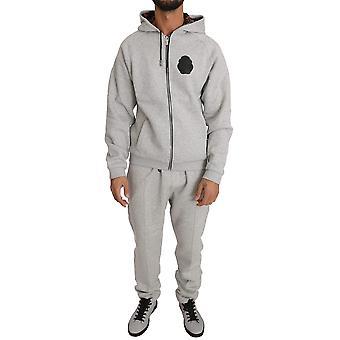 Gray cotton sweater pants tracksuit