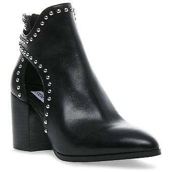 Steve Madden Womens Justice Zip Ankle Boot Black