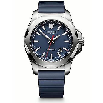 Victorinox Swiss Army I.N.OX. Blue High-Grade Rubber With Protective Bumper Strap Mens Watch 241688.1 43mm