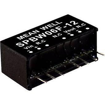 Mean Well SPBW06F-12 DC/DC omvandlare (modul) 500 mA 6 W Nr. av utgångar: 1 x