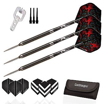 RED DRAGON Double Agent: 20g - 90% Tungsten Steel Darts with Hardcore Flights & Shafts