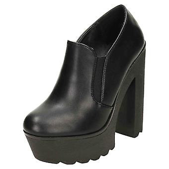Koi Footwear Chunky Chelsea Ankle Boots High Heel Platform Gothic