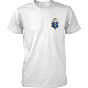 HMS Hermes - ausgemusterte Schiff der königlichen Marine T-Shirt Farbe