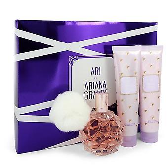 Ari Gift Set By Ariana Grande 3.4 oz Eau De Parfum Spray + 3.4 oz Body Lotion + 3.4 oz  Shower Gel