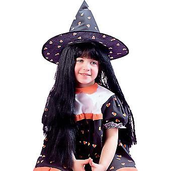 Peruukki lapsi noita musta Halloween